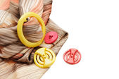Sewing buttons — Foto Stock