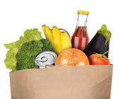 Bag of groceries — Stock Photo