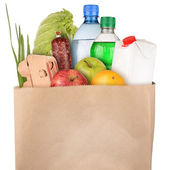 Bag of groceries — 图库照片