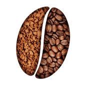 Coffee bean symbol — Stock Photo