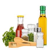 Seasoning and condiments — Stock Photo