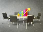 Gráfico colorido estadia em um de madeira adao — Foto Stock