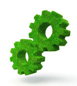 Gears green — Stock Photo