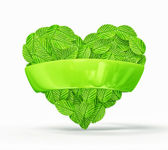 Leafs heart — Stock Photo