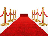 Red ivent carpet — Stockfoto