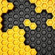 Honeycomb background - 图库照片