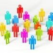 Colourful  peoples isolated on a white background — Stock Photo