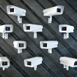 Security cameras — Stock Photo