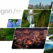 Oregon Postcard Design — Stock Photo