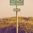 Stock Photo: Bike Route Begin