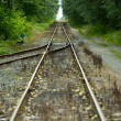 Merging Railroad Tracks — Stock Photo