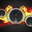 Fire Speakers — Stock Photo