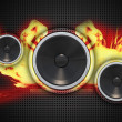 Fire Speakers — Stock Photo #17169911
