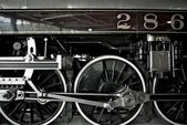 Steam Locomotive Closeup — Stock Photo