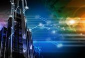 Networking hintergrund — Stockfoto