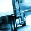 Semi Truck in Motion — Stock Photo