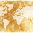 Rustic World Map — Stock Photo