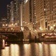 Chicago Golden Night — Stock Photo
