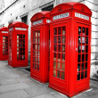 London Telephone Boxes — Stock Photo