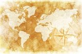 Mapa mundo rústico — Foto Stock