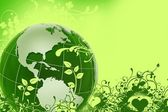 Green Eco Globe — Stock Photo