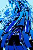 Abstract Blue Blocks — Stock Photo