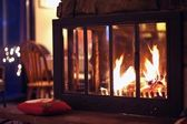 Hot Fireplace — Stockfoto