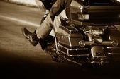 Kaç motorcu sepya — Stok fotoğraf