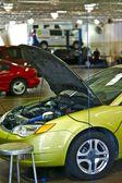 Grünen defekte Fahrzeug — Stockfoto