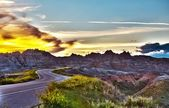 Famous Badlands Road — Stock Photo