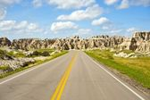 Carretera de tierras baldías — Foto de Stock