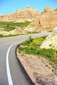 Curved Road in Badlands — Stock Photo