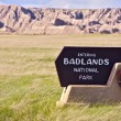 Badlands Entrance Sign — 图库照片