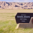 Badlands Entrance Sign — Stok fotoğraf