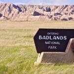 sinal de entrada de Badlands — Foto Stock