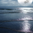 Ocean and the Moon — Stock Photo