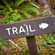 Trail Wood Sign - Stock Photo