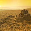 Постер, плакат: Sand Castle on the Beach