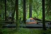 Camping and Tent — Stock Photo