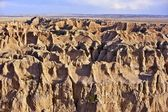 Sandy Landscape of Badlands — Stock Photo