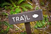 Trail Wood Sign — Stock Photo