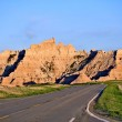 Stock Photo: Badlands Roadway