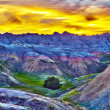 HDR Sunset in The Badlands — Stock Photo #17643813