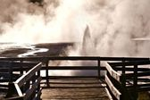 Black Sand Basin Yellowstone — Stock Photo