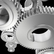 Stock Photo: Steel Gears Background