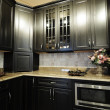 Dark Kitchen Cabinets — Stock Photo #17667945