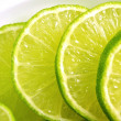 Sliced Limes — Stock Photo