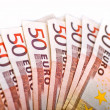 Fifty Euros Pile — Stock Photo
