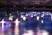 Chicago River at Night — Stock Photo
