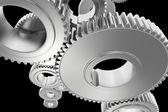 Steel Gears Background — Stock Photo
